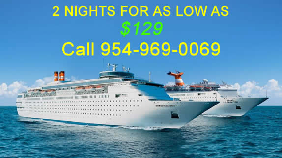 2 night cruise to Freeport for as low as $129